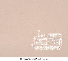 Steam locomotive on old background