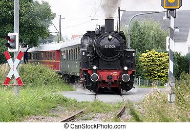 Steam locomotive - This German steam locomotive called...