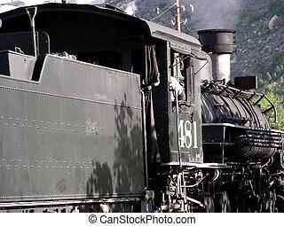 Steam Locomotive - Antique coal powered steam locomotive...