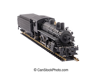Steam Locomotive Train - Scale Model Of An Old Time Steam...