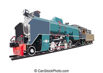 Steam locomotive transport, vintage train.