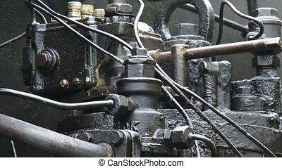 Steam locomotive under pressure + steaming valve - full...