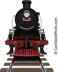 steam locomotive - Layered vector illustration of steam...