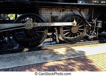 Steam Locomotive Warming up a Train Station