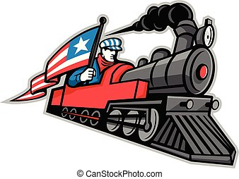 steam-locomotive-with-driver-flag-side-mascot
