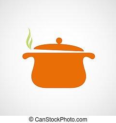 steam., logo, pfanne