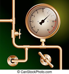 steam powered traction engine boiler pressure gauge