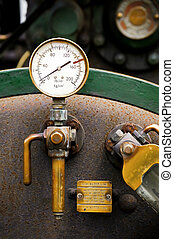 pressure gauge - steam powered traction engine boiler...