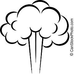 Steam puff vector icon - Steam puff vector cloud icon