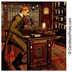 Steam Punk Scientist - Victorian style detective or...