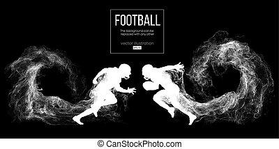 steam., ser, rugby., silueta, otro., resumen, fútbol, ...