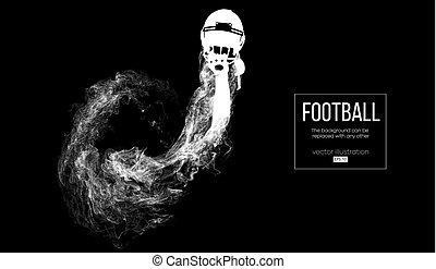 steam., ser, rugby., silueta, otro., vector, resumen, ...