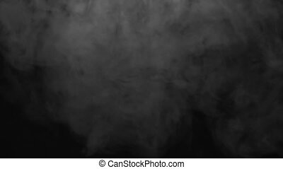 Steam smoky cloud of electronic cigarette - White smoky...
