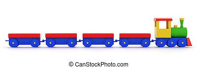Steam toy locomotive