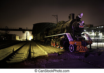 Steam train at rest