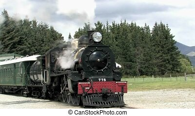 steam train at station - The Kingston Flyer is New Zealand's...