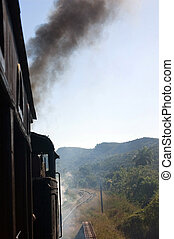 Steam train in Valle de los Ingenios, Cuba - Steam train in...