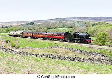 steam train, North Yorkshire Moors Railway (NYMR),...