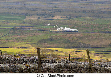 Steam trains in the yorkshire dales