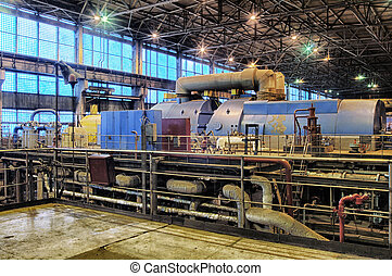 steam turbine at a power plant