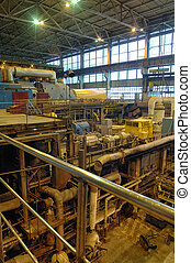 steam turbine on power plant