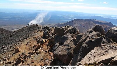 Steam vent in New Zealand - Volcanic activity on Mount...