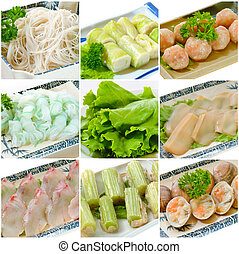 Steamboat food collection. chinese food