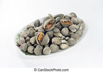 steamed blanched clams