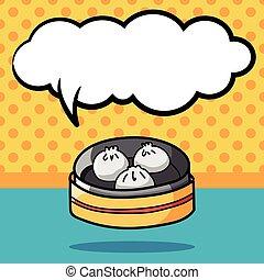 Steamed buns doodle