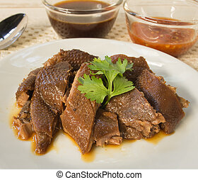 steamed duck / food
