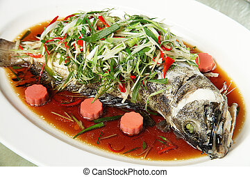 Steamed fish - Chinese style steamed fish in soy sauce