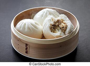 steamed pork buns - chinese dim sum