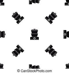 Steamer pattern seamless black