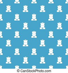 Steamer pattern seamless blue