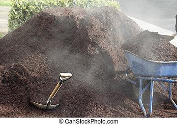 Steaming Bark Dust