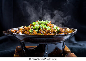steaming beef