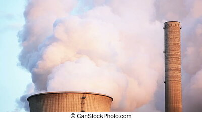Steaming Cooling Tower