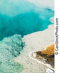 Steaming Hot Spring Pool at Yellowstone