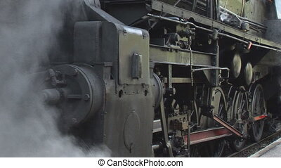 steaming old train 1