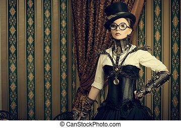 steampunk, κομψός
