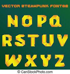steampunk, デザイン, アルファベット