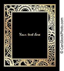 steampunk, デザイン, card., テンプレート, style.