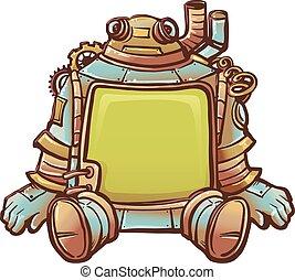 steampunk, フレーム, ロボット
