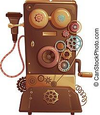 steampunk, 型, 電話