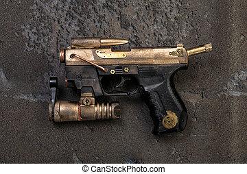steampunk, 武器, レーザー