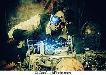 steampunk, 科学者, 発明者
