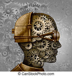 Steampunk And Steam Punk Head