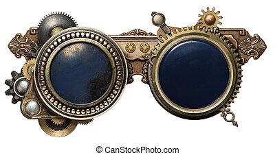 steampunk, anteojos