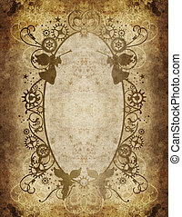 steampunk christmas border 7