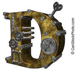 steampunk, d, lettre